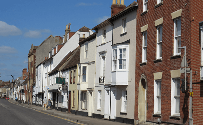 Terraced properties in Salisbury